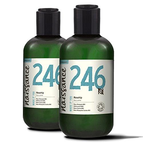 Naissance Wildrosenöl BIO/Hagebuttenkernöl BIO (Nr. 246) 500ml (2x250ml) – kaltgepresst, rein und natürlich, vegan