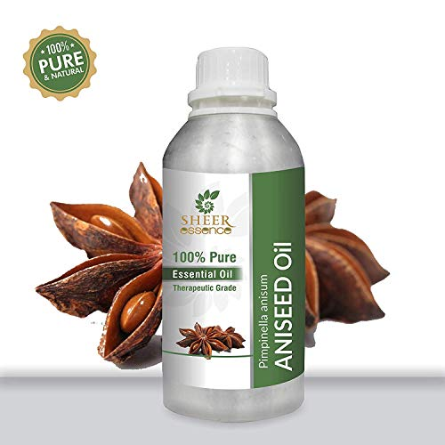 ANISEED (PIMPINELLA ANISUM) OIL 100% Pure Undiluted Natural Uncut Therapeutic Grade Steam Distilled Essential Oils For Skin, Hair And Aromatherapy 1000ML