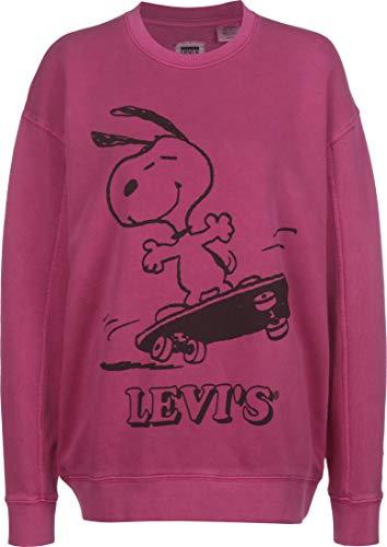 Levis x Peanuts Unbasic Crew Sweatshirt Snoopy Burgundy S