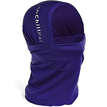 Chill Pal 12 in 1 Multi Style Cooling Neck Gaiter Face Cover  Purple Full Size