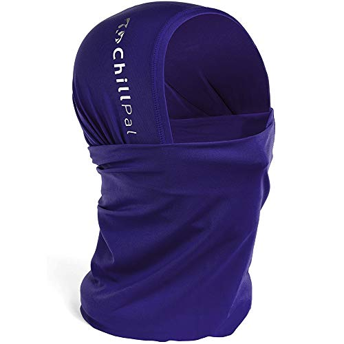 Chill Pal 12 in 1 Multi Style Cooling Neck Gaiter Face Cover (Purple, Full Size)