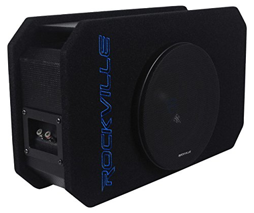 Rockville RMW8P 8' 800w Shallow Car Subwoofer+Tunnel Slot Ported Sub Enclosure
