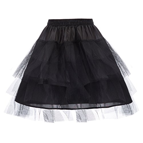 Girl Black 3 Layers Organza Toddler Tutu Puffy Skirts 4-6 Y DB01-1