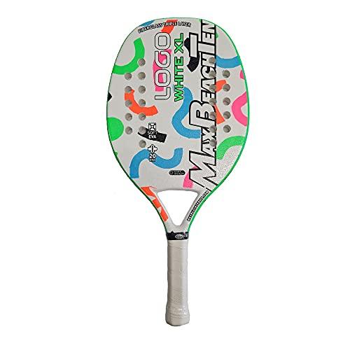 MBT Max Beach Tennis Racchetta Beach Tennis Racket Logo White XL 2021