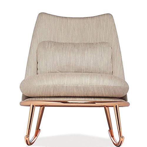 LLSS Mecedora AJH, Mecedora Simple de Acero Inoxidable a la Moda posmoderna, Muebles de Ocio, Almuerzo, sofá, Silla de salón