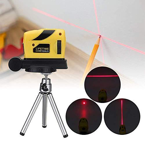 Maso Nivel Láser 3D, Autonivelante de 5 m y Línea/Punto/Cruz Vertical Láser Rojo Brillante con Trípode
