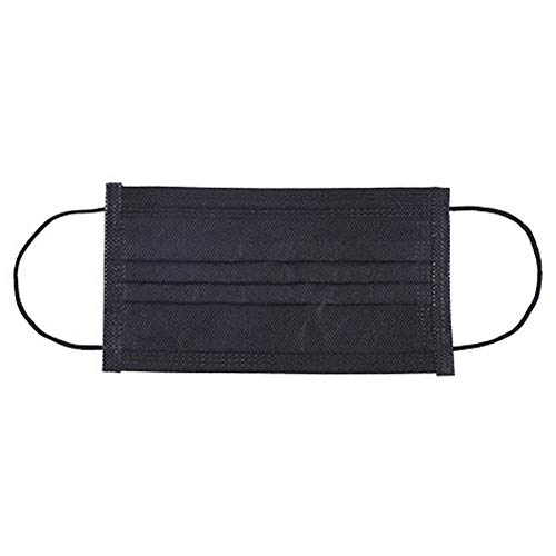 Dre-Chenzi Einweg-Masken, atmungsaktiv, 3-lagiger Filter, Ohrschlaufen, Sonnenschutz, Schutzmaske für Zuhause, 10 Stück, schwarz
