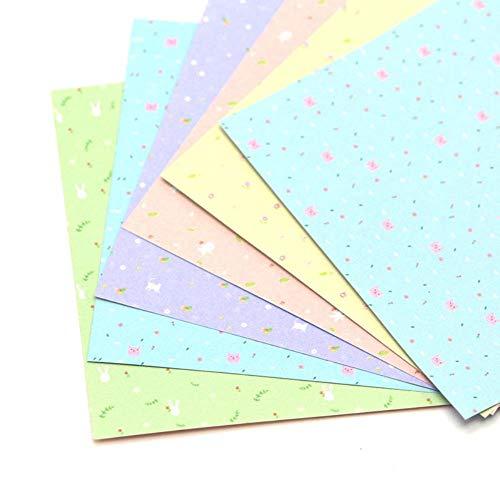 Zent - Papel de origami de doble cara con impresión de trompeta cuadrada de papel de origami hecho a mano