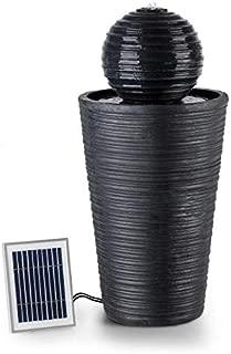 Blumfeldt Liquitorre XL Garden Fountain • Solar Fountain • 200 l/h / IPX8 • 2 W / 300 cm² Photovoltaic Surface • Outdoor • Sunriver Technology • LED Mood Light • Polyresin