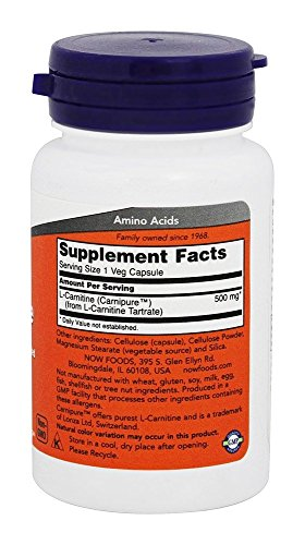 Now Foods - L-Carnitine 500 mg. - 30 Capsules, 1 Units