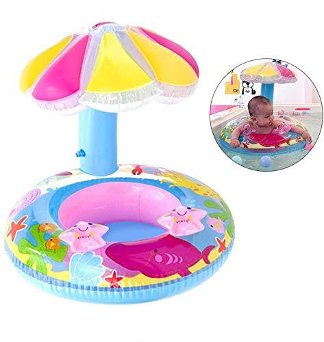 Baby Schwimmring, Aufblasbarer Schwimmsitz Schwimmhife Spielzeug,Baby Schwimmtrainer mit Sonnendach,Baby Float Schwimmreifen,Schwimmtrainer Wasserspielzeug