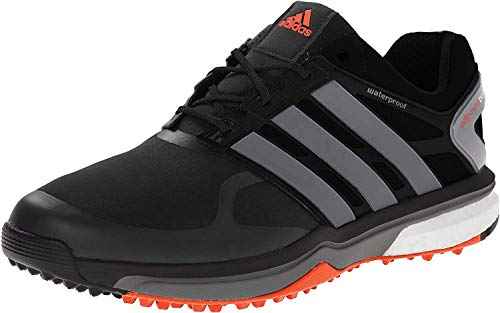 adidas Men's Adipower S Boost-M, Black/Iron Metallic/Dark Orange, 7 M US