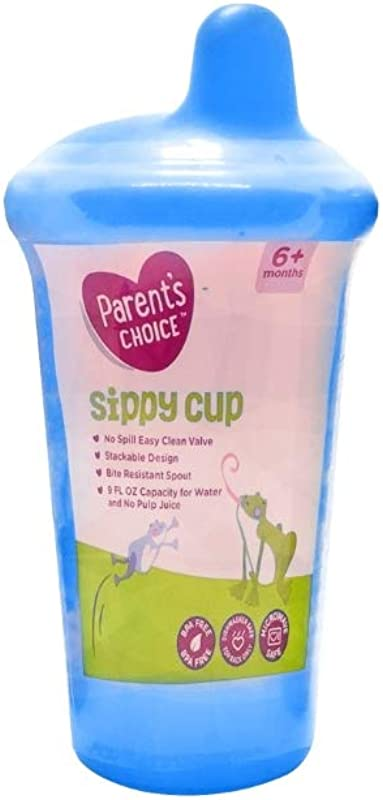 Parent S Choice Sippy Cup Blue 9 Fl Oz 6 Months BPA Free