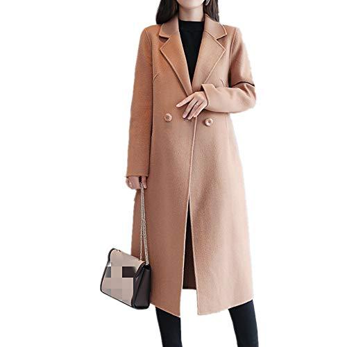 U/A Autunno e Inverno Nuovo Colore Solido Coreano Lunghezza Media Cardigan Vestito Collare...