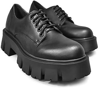 Altercore Deidra Zapatos Mujer Plataforma Negro Vegan Tacón