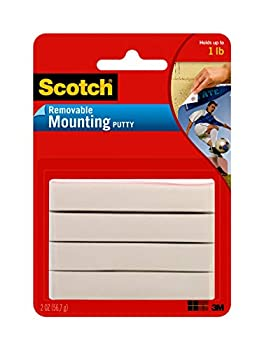 Scotch Removable Mounting Putty 2 oz Colors May Vary