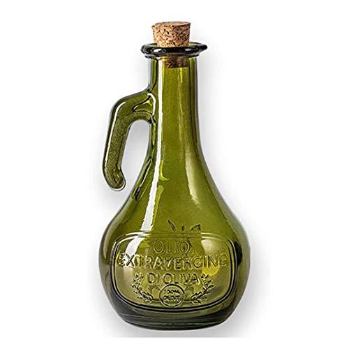 GAOTTINGSD Aceitera y vinagrera Botella de vinagre Aceite Pourer con tapón de Madera, de Gran Capacidad de la Botella de Cristal del Aceite de Oliva y vinagre dispensador (Color : Green)