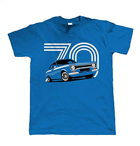 Mk1 Escort Mexico Mens T Shirt L Blue