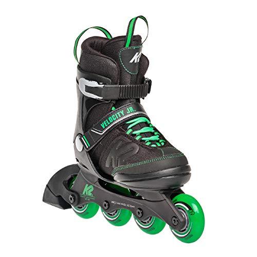 K2 Skates Jungen Inline Skate Velocity Jr B — black - green — M (EU: 32-37 / UK: 13-4 / US: 1-5) — 30E0281