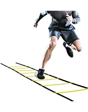 Yinuoday Fitness Agility Ladder Voetbal Volleybal Voetbal Training Equipment, Verbetert de coördinatie, snelheid, Power Jumping Ladder