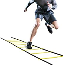 Ponacat Sports Agility Ladders, Fitness Quick Footwork Increase Speed Cones Training Set for Football Rugby Tennis Baseball Workout