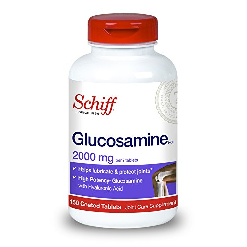 Schiff Glucosamine With Hyaluronic Acid, 2000mg Glucosamine, Joint Care Supplement Helps Lubricate & Protect Joints*, 150 Count (Pack of 2)