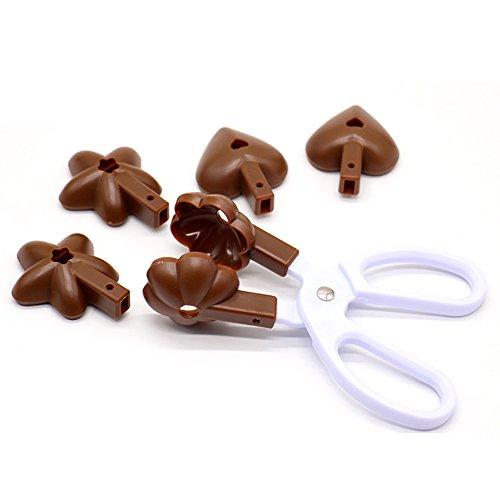 YIJIA Bakken Koken Gereedschap Hartvormige Bloem Ster Gevormde Lolly Chocolade Tang Cake Cookie Cutter Mold Clip Kleur Willekeurig
