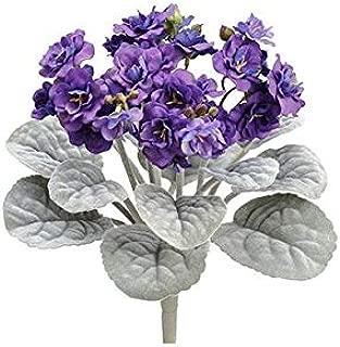 Purple Faux African Violet Plant - 12