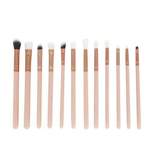 kit de Brochas Sannysis set de Brochas Mini pinceles de cejas 12PCS (Oro)