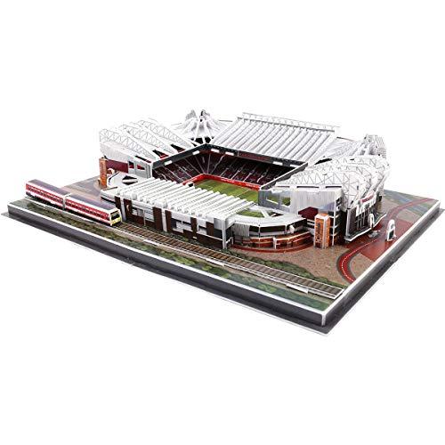 HARTI 3D Stadion Puzzles Modell Baukasten, Manchester United Altes Trafford Stadion 3D Puzzle Modell Set, Fußballfeld Montieren Gebäudemodell Spielzeug Für Kinder Geschenke,Q