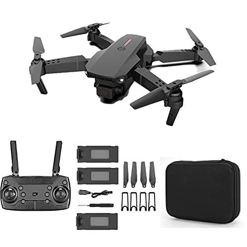 SWETIY Drone per Bambini, Ultraleggero E Pieghevole Drone Quadcopter, Mantenimento Dell'altitudine, Modalit¨¤ Senza Testa, Funzione di Hovering, Adatto Ai Principianti,Black 3 Batteries