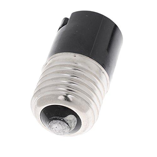 B Blesiya - 3 adaptadores para Casquillo de E27 a B22 para lámpara de Metal Blanco
