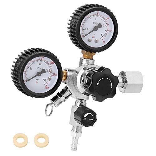TEVISE Presión de CO2 Cerveza Barril Regulador de la válvula de Seguridad 0-3000 PSI de presión de los Tanques para Agua de Dial de Aceite de Aire