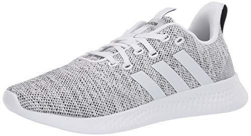 adidas womens Puremotion Running Shoe, White/White/Black, 7.5 US