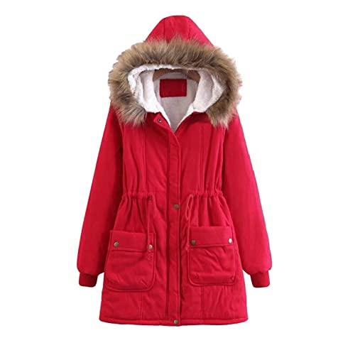 Chaqueta de invierno para mujer con capucha, chaqueta larga, abrigo de invierno, abrigo fino, chaqueta con capucha, parka, chaqueta acolchada, abrigo de invierno, abrigo de plumón, abrigo de felpa
