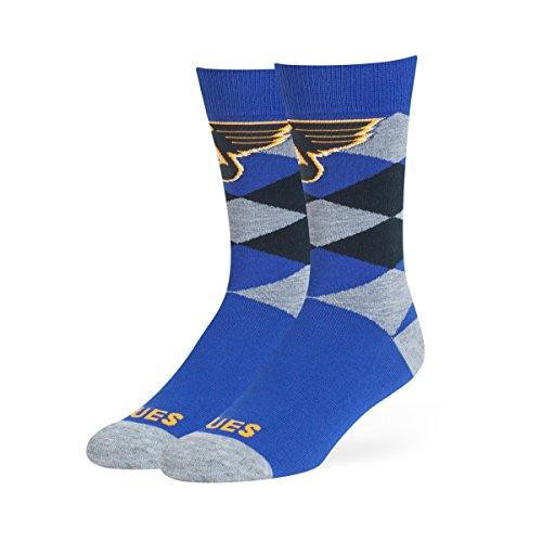 NHL St. Louis Blues OTS Blaine Dress Sock, Royal, Large