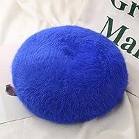 女性の女の子のための秋冬毛皮ベレー帽帽子固体暖かい帽子屋外旅行ベレー帽帽子レディキャップ
