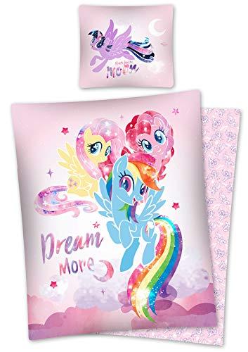 DP My Little Pony Star Bettwäsche, Wendebettwäsche Größe: 140 x 200 cm, 70 x 80 cm Mehrfarbig 100% Baumwolle
