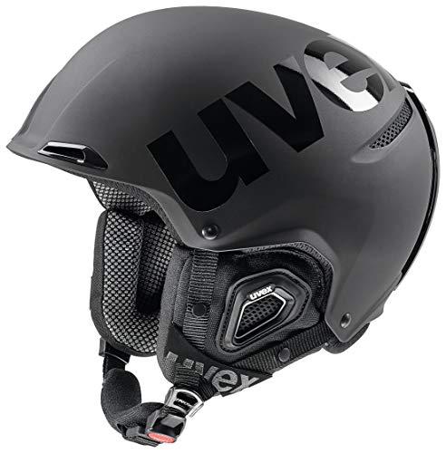 uvex Unisex– Erwachsene, JAKK+ octo+ Skihelm, black mat-shiny, 55-59 cm