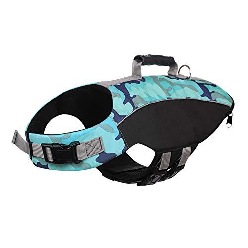 SAWMONG Camo Dog Life Jacket, Pet Flotation Life Vest for Medium Large Dogs, Dog Safety Vest...