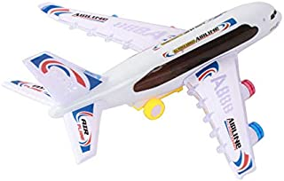 Playee Toy Airplane for Kids - Bump and Go Electric Air BOU A380 Kids Action Airplane with Attractive Flashing Lights and Aircraft Jet Engine Sounds -Changes Direction On Contact, Great Gift for Kids