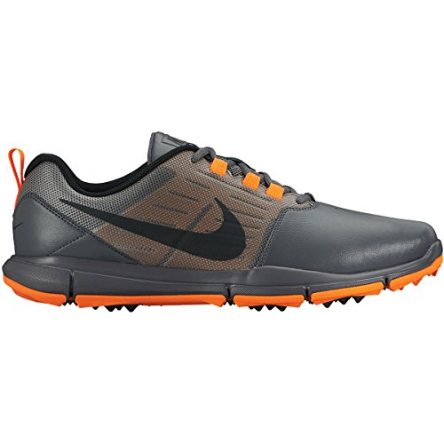 Nike Explorer Lea, Scarpe da Golf Uomo, Gris/Negro/Naranja (Dark Grey/Black-Total Orange), 46 EU