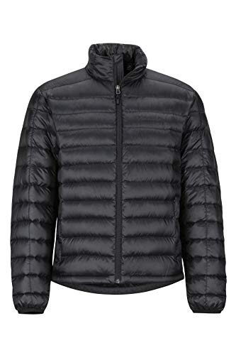 Marmot Men's Lightweight, Water-Resistant Zeus Jacket, 700 Fill Power Down, Jet Black, Medium