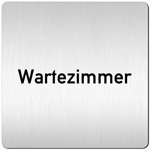 Kinekt3d Leitsysteme XXL Schild - Türschild • 125 x 125 mm • Wartezimmer - Warteraum • 1,5 mm Aluminium Vollmaterial • 100{947469a41260ce6f16d7a293821e84ce2f044b0ac5914ea6a90fc08a341dcb7d} Made in Germany