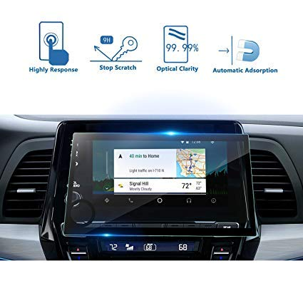 WE-CARE Unbreakable Screen Protector for Honda City Navigation System with Impossible Anti Shock Tempered Glass and Hammer Proof Protection
