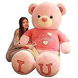 qwerbz 100cm 40in Teddy Bear Plush Toy Lovely Enormes Juguetes De Peluche Rellenos Bear Doll Lover Bear Kids Toy Regalo De Cumpleaños para Novia 100cm b