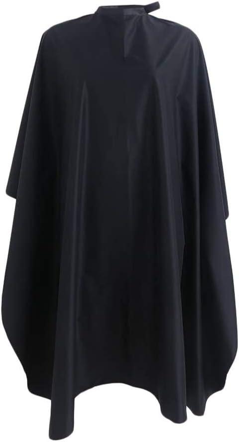 SUNTATOP Capa del Pelo, Pelo del Salón que Corta el Peluquero CAPES del Vestido de la Tela (negro)