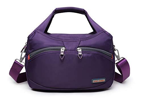 La Packmore Waterproof Nylon Crossbody Bags for Women Multi-Pocket Shoulder Bag Travel Purse and Handbag…