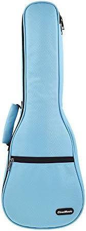 CLOUDMUSIC Ukulele Case 10mm Padded Ukulele Backpack Case Concert Ukulele Case Blue Concert product image