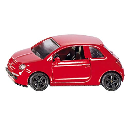 SIKU 1453, Fiat 500, Spielzeugauto für Kinder, Metall/Kunststoff, Farblig Sortiert, Bereifung aus Gummi